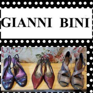 3 PAIR OF GIANNI BINI Women's Leather Pumps